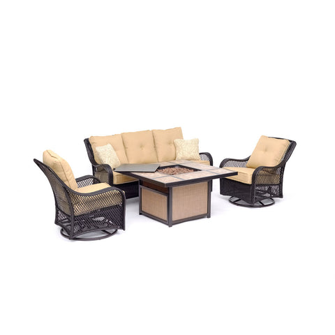 hanover-orleans-4-piece-fire-pit-sofa-2-cushioned-swivel-rockers-tile-top-fire-pit-orl4pctfpsw2-tan