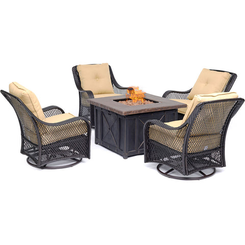 hanover-orleans-5-piece-fire-pit-4-swivel-gliders-and-durastone-fire-pit-orl5pcdfpsw4-tan