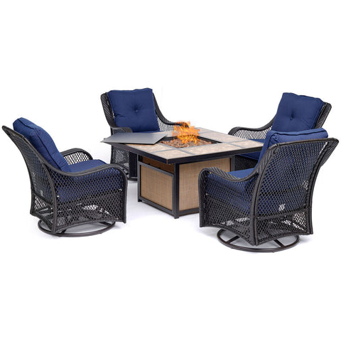 hanover-orleans-5-piece-fire-pit-4-cushioned-swivel-gliders-and-tile-top-fire-pit-orl5pctfpsw4-nvy