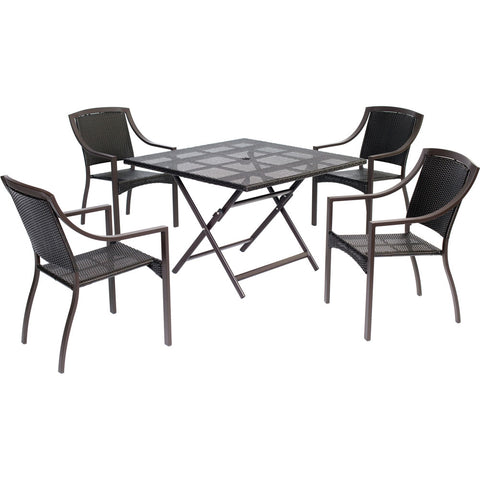 hanover-orleans-5-piece-dining-4-aluminum-square-dining-chairs-square-woven-table-orldn5pcsq-brn