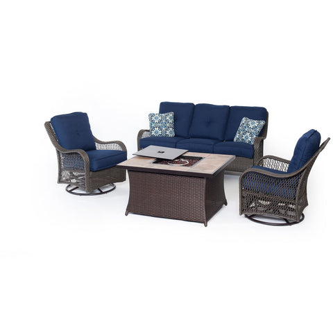 hanover-orleans-fire-pit-seating-set-2-swivel-gliders-sofa-fire-pit-coffee-table-with-porcelain-tile-orleans4pcfp-nvy-b