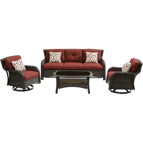 hanover-strathmere-4-piece-sofa-2-swivel-gliders-woven-coffee-table-strath4pcsw-s-red