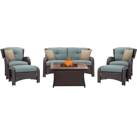 hanover-strathmere-6-piece-fire-pit-set-with-tan-tile-top-strath6pcfp-blu-tn