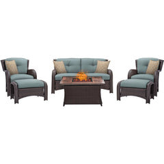 hanover-strathmere-6-piece-fire-pit-set-with-wood-grain-tile-top-strath6pcfp-blu-wg