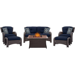 hanover-strathmere-6-piece-fire-pit-set-with-wood-grain-tile-top-strath6pcfp-nvy-wg