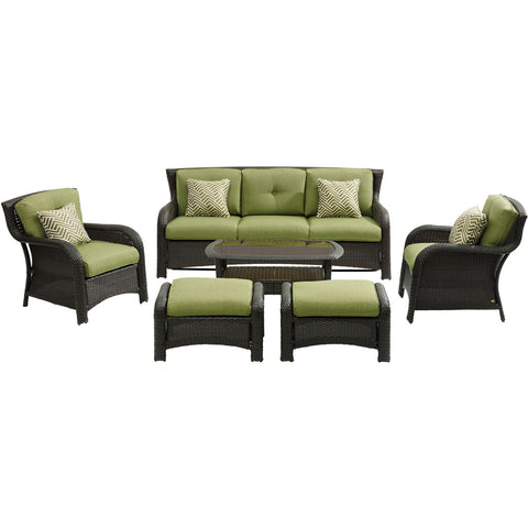 hanover-strathmere-6-piece-sofa-2-side-chairs-2-ottomans-woven-coffee-table-strath6pc-s-grn