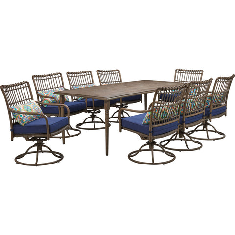 hanover-summerland-9-piece-8-swivel-dining-chairs-and-82x40-inch-rect.-table-sumdn9pcsw8-nvy