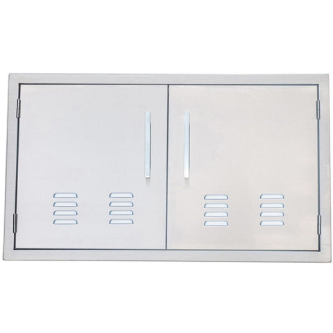 Sunstone 36 inch beveled frame vented double door BA-VDD36 - M&K Grills