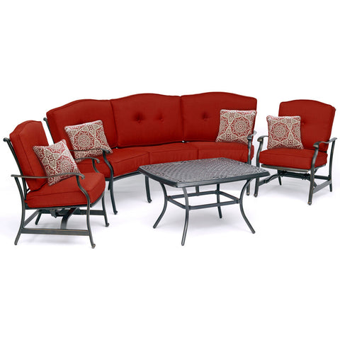 hanover-traditions-4-piece-set-sofa-2-cushion-rockers-cast-top-coffee-table-trad4pcct-red
