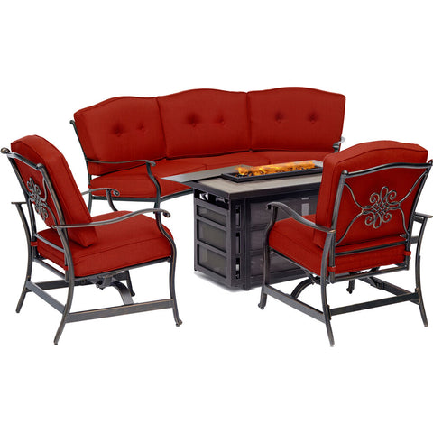 hanover-traditions-4-piece-fire-pit-rectangle-kd-fire-pit-with-tile-crescent-sofa-2-cushion-rockers-trad4pcrecfp-red