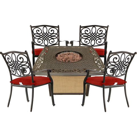 hanover-traditions-5-piece-fire-pit-4-dining-chairs-and-cast-top-fire-pit-trad5pccfp-red