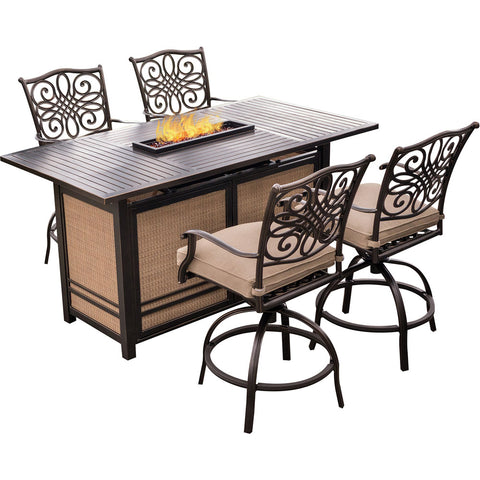 hanover-traditions-5-piece-fire-pit-high-dining-4-counter-swivel-rockers-1-fire-pit-table-trad5pcfpbr