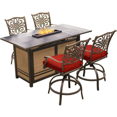 hanover-traditions-5-piece-fire-pit-high-dining-4-counter-swivel-rockers-1-fire-pit-tabl-trad5pcfpbr-red