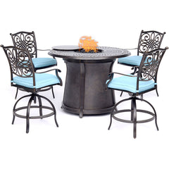 hanover-5-piece-high-fire-pit-set-4-swivel-chairs-48-inch-round-cast-top-fire-pit-table-trad5pcfprd-br-b