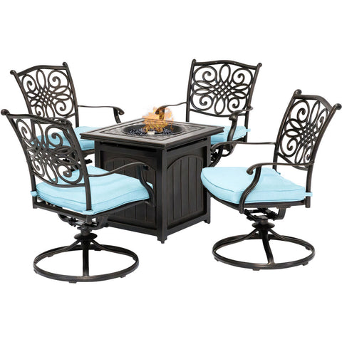 hanover-traditions-5-piece-4-swivel-rockers-and-26-inch-square-fire-pit-trad5pcswfpsq-blu