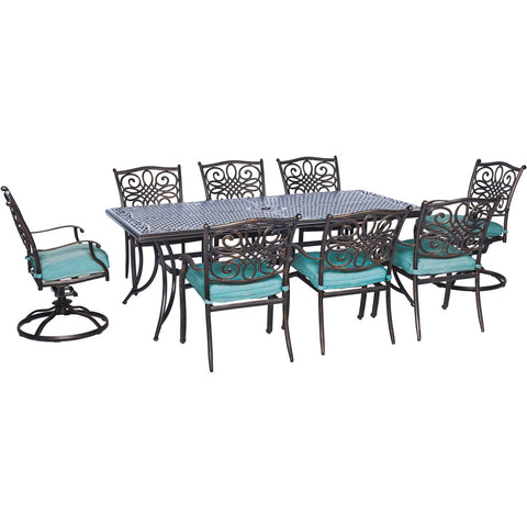 hanover-traditions-9-piece-6-dining-chairs-2-swivel-rockers-42x84-inch-cast-table-trad9pcsw2-blu