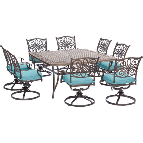 hanover-traditions-9-piece-8-swivel-rockers-60-inch-square-cast-table-trad9pcswsq8-blu
