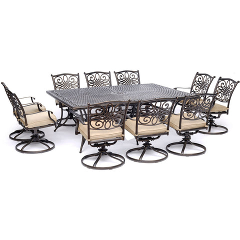 hanover-traditions-11-piece-10-swivel-rockers-60x84-inch-cast-table-traddn11pcsw10