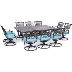 hanover-traditions-11-piece-10-swivel-rockers-60x84-inch-cast-table-traddn11pcsw10-blu