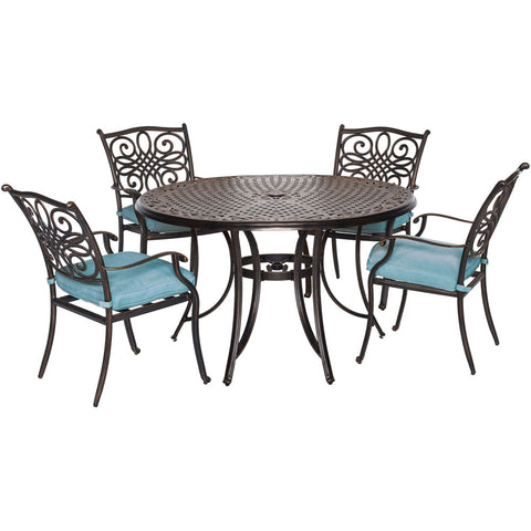 hanover-traditions-5-piece-4-dining-chairs-48-inch-round-cast-table-traddn5pc-blu