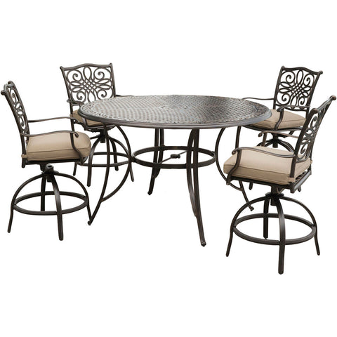 hanover-traditions-5-piece-4-counter-height-swivel-chairs-56-inch-round-cast-table-36-inch-height-traddn5pcbr