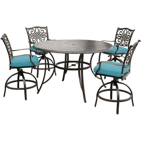 hanover-traditions-5-piece-4-counter-height-swivel-chairs-56-inch-round-cast-table-36-inch-height-traddn5pcbr-blu