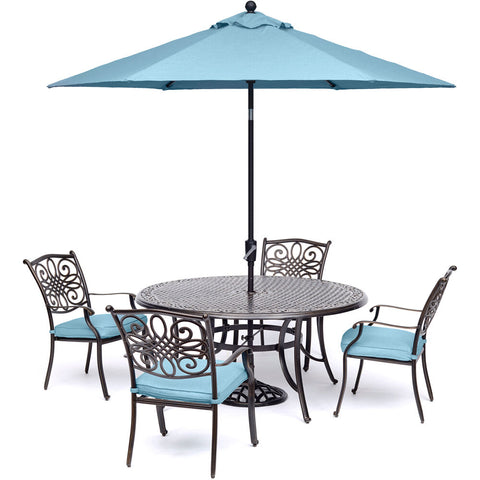 hanover-traditions-5-piece-4-dining-chairs-48-inch-round-cast-table-umbrella-base-traddn5pc-b-su