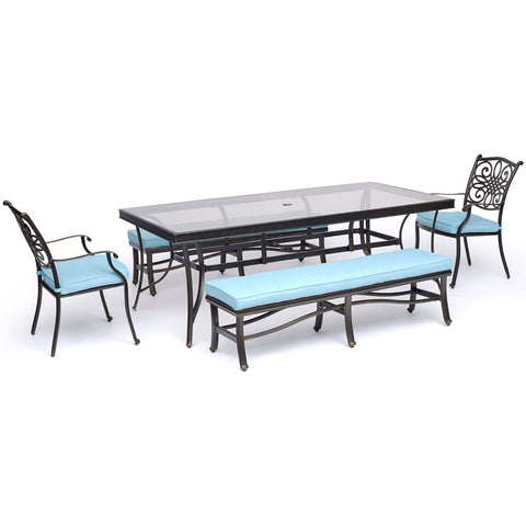 hanover-traditions-5-piece-2-dining-chairs-2-backless-benches-42x84-inch-glass-top-table-traddn5pcgbn-blu