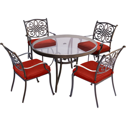 hanover-traditions-5-piece-4-dining-chairs-48-inch-round-glass-top-table-traddn5pcg-red