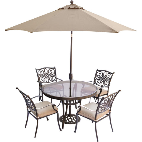 hanover-traditions-5-piece-4-dining-chairs-48-inch-round-glass-top-table-umbrella-base-traddn5pcg-su