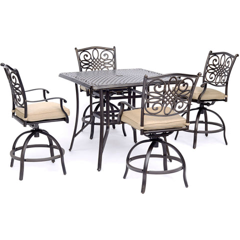 hanover-traditions-5-piece-4-counter-height-swivel-chairs-42-inch-square-cast-table-36-inch-height-traddn5pcsqbr
