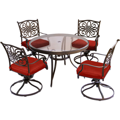 hanover-traditions-5-piece-4-swivel-rockers-48-inch-round-glass-top-table-traddn5pcswg-red
