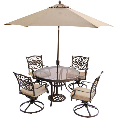 hanover-traditions-5-piece-4-swivel-rockers-48-inch-round-glass-top-table-umbrella-base-traddn5pcswg-su