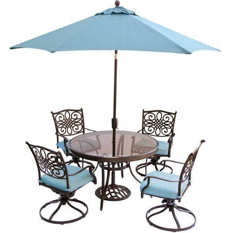 hanover-traditions-5-piece-4-swivel-rockers-48-inch-round-glass-top-table-umbrella-base-traddn5pcswg-su-b