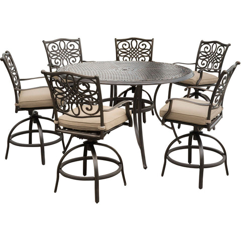 hanover-traditions-7-piece-6-counter-height-swivel-chairs-56-inch-round-cast-table-36-inch-height-traddn7pcbr