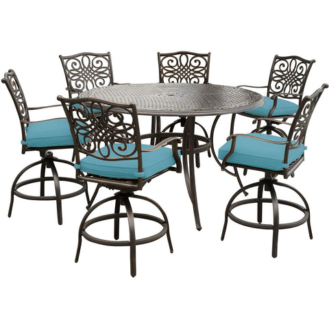 hanover-traditions-7-piece-6-counter-height-swivel-chairs-56-inch-round-cast-table-36-inch-height-traddn7pcbr-blu