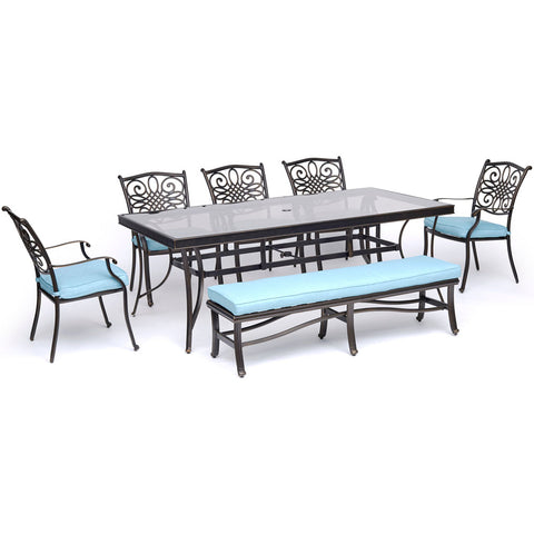 hanover-traditions-7-piece-5-dining-chairs-backless-bench-chairs-42x84-inch-glass-top-table-traddn7pcgbn-blu