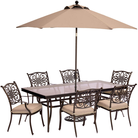 hanover-traditions-7-piece-6-dining-chairs-42x84-inch-glass-top-table-umbrella-base-traddn7pcg-su