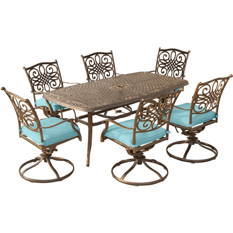 hanover-traditions-7-piece-6-swivel-rockers-38x72-inch-cast-table-traddn7pcsw6-blu