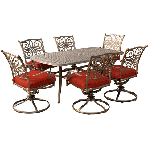 hanover-traditions-7-piece-6-swivel-rockers-38x72-inch-cast-table-traddn7pcsw6-red