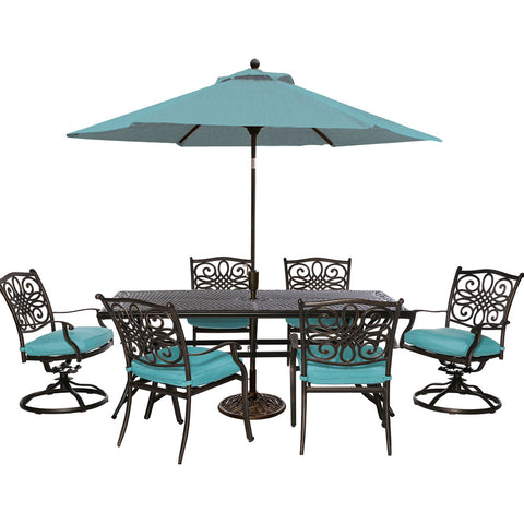 hanover-traditions-7-piece-4-dining-chairs-2-swivel-rockers-38x72-inch-cast-table-umbrella-base-traddn7pcsw-b-su