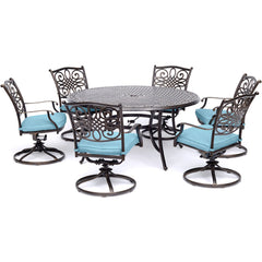 hanover-traditions-7-piece-6-swivel-rockers-60-inch-round-cast-table-traddn7pcswrd6-blu