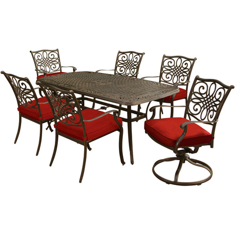 hanover-traditions-7-piece-4-dining-chairs-2-swivel-rockers-38x72-inch-cast-table-traddn7pcsw-red