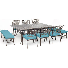 hanover-traditions-9-piece-6-dining-chairs-2-backless-bench-chairs-60x84-inch-cast-table-traddn9pcbn-blu