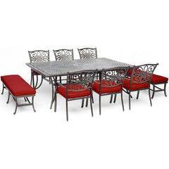 hanover-traditions-9-piece-6-dining-chairs-2-backless-bench-chairs-60x84-inch-cast-table-traddn9pcbn-red