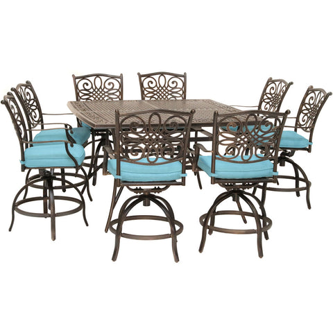 hanover-traditions-9-piece-8-counter-height-swivel-chairs-and-60-inch-square-cast-table-traddn9pcbrsq-blu