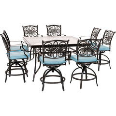 hanover-traditions-9-piece-8-counter-height-swivel-chairs-and-60-inch-square-glass-table-traddn9pcbrsqg-blu