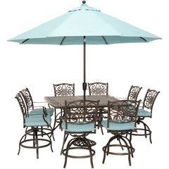 hanover-traditions-9-piece-8-counter-height-swivel-chairs-60-inch-square-cast-table-umbrella-and-base-traddn9pcbrsq-su-b