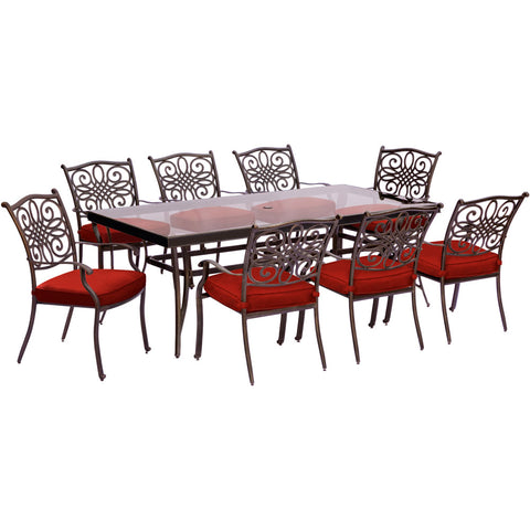 hanover-traditions-9-piece-8-dining-chairs-42x84-inch-glass-top-table-traddn9pcg-red