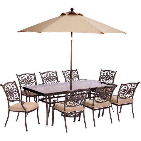 hanover-traditions-9-piece-8-dining-chairs-42x84-inch-glass-top-table-umbrella-base-traddn9pcg-su